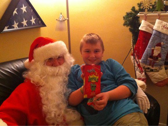 Christmas Eve Santa visit